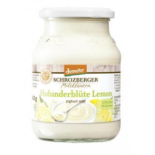 Joghurt Holunderblüte Lemon   Glas