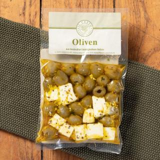 Feta-Oliven-Mix, mariniert